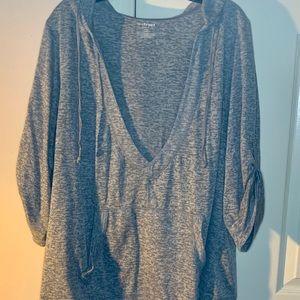 Lane Bryant Gray V-neck Light SweatShirt 22/24